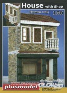 Haus mit Shop · PM 35190 ·  plusmodel · 1:35
