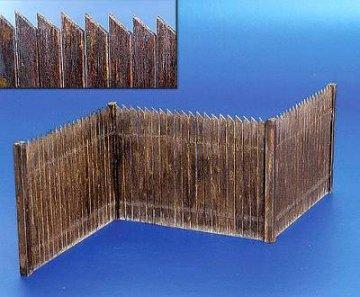 Lattenzaun aus echtem Holz · PM 35217 ·  plusmodel · 1:35
