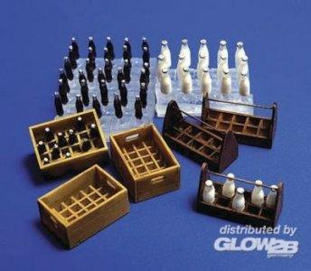 Flaschen und Kästen Milch und Limonade · PM 35221 ·  plusmodel · 1:35