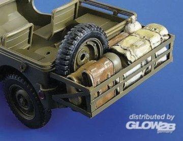 Anbau mit Gepäck für Tamiya Bausatz · PM 35246 ·  plusmodel · 1:35