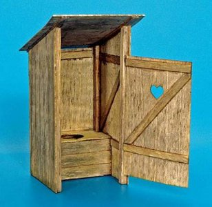 Holz-Toilette · PM 35263 ·  plusmodel · 1:35