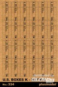 U.S. Rationierungs-Kisten K · PM 35334 ·  plusmodel · 1:35