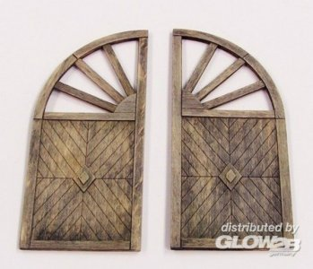 Wooden gate - round · PM 431 ·  plusmodel · 1:35