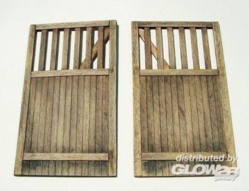 Wooden gate - straight · PM 432 ·  plusmodel · 1:35