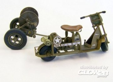 U.S. airborne scooter with reel · PM 438 ·  plusmodel · 1:35