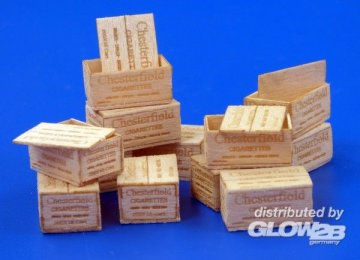 U.S.Wooden crates for cigaretes WWII - type II · PM 480 ·  plusmodel · 1:35
