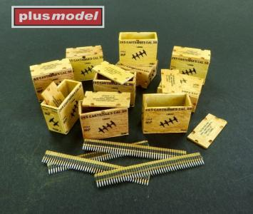US ammunition boxes for ammunition belts · PM AL3003 ·  plusmodel · 1:32