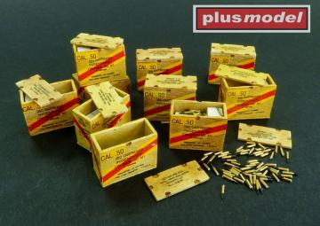 US ammunition boxes for cartridges in boxes · PM AL3004 ·  plusmodel · 1:32