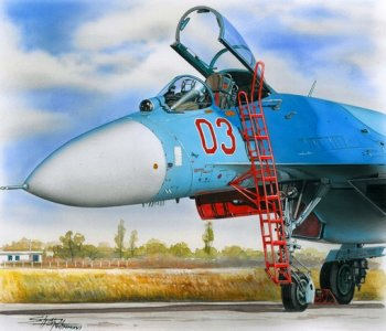 Ladder for Su-27 · PM AL4062 ·  plusmodel · 1:48
