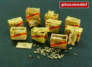 US ammunition boxes for cartridges in boxes · PM AL4083 ·  plusmodel · 1:48
