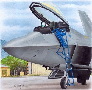 Ladder - F-22 · PM AL4085 ·  plusmodel · 1:48