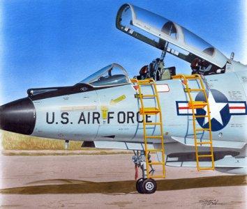 Ladder - F-101B · PM AL4086 ·  plusmodel · 1:48