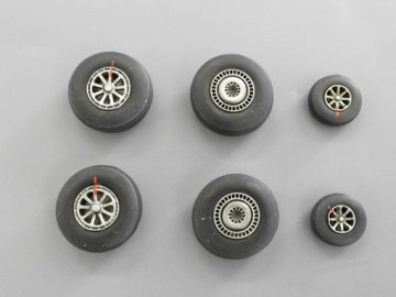 Wheels for C-121 Constelation · PM AL7024 ·  plusmodel · 1:72