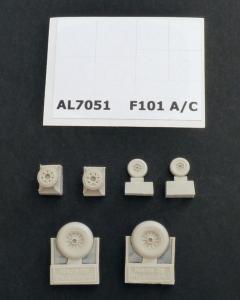F-101A/C Woodoo - Wheels · PM AL7051 ·  plusmodel · 1:72