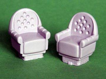 gepolsterte Stühle · PM EL025 ·  plusmodel · 1:35