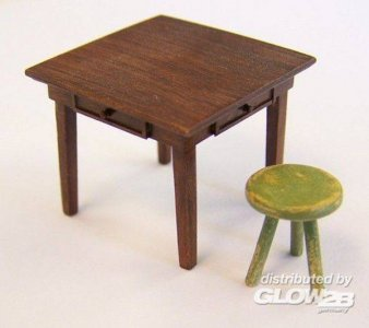 Table and seat · PM EL048 ·  plusmodel · 1:35