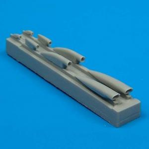 MiG-21MF - Air cooling scoops [Academy] · QB 48021 ·  Quickboost · 1:48