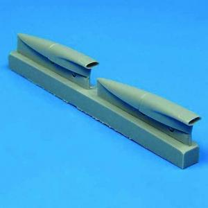 F-8 Crusader - Air cooling scoops [Hasegawa] · QB 48028 ·  Quickboost · 1:48
