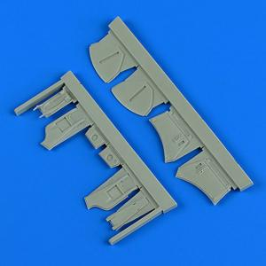 Hawker Hunter - Undercarriage covers [Airfix] · QB 48889 ·  Quickboost · 1:48