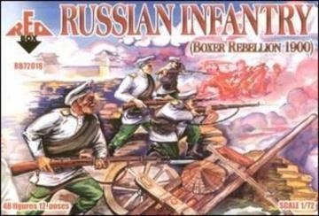 Russian Infantry, Boxer Rebellion 1900 · RDB 72018 ·  Red Box · 1:72