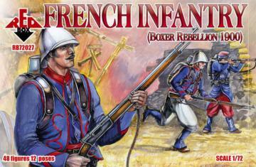 French Infantry, Boxer Rebellion 1900 · RDB 72027 ·  Red Box · 1:72
