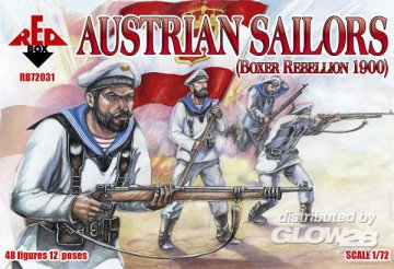 Austrian sailors, Boxer Rebellion 1900 · RDB 72031 ·  Red Box · 1:72