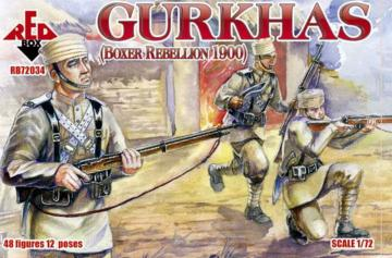 Gurkhas, Boxer Rebellion 1900 · RDB 72034 ·  Red Box · 1:72