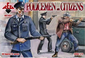 Policemen and citizens · RDB 72037 ·  Red Box · 1:72