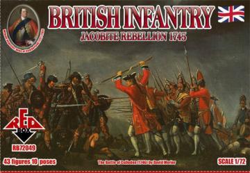British Infantry 1745,Jacobite Rebellion · RDB 72049 ·  Red Box · 1:72