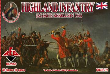 Highland Infantry 1745,Jacobite Rebell. · RDB 72050 ·  Red Box · 1:72