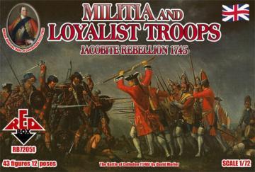Militia+Loyalist Troops 1745,Jacobite R. · RDB 72051 ·  Red Box · 1:72