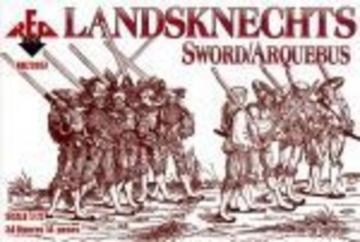Landsknechts (Sword/Arquebus) 16th century · RDB 72057 ·  Red Box · 1:72