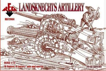 Landsknechts (Artillery), 16th century · RDB 72064 ·  Red Box · 1:72
