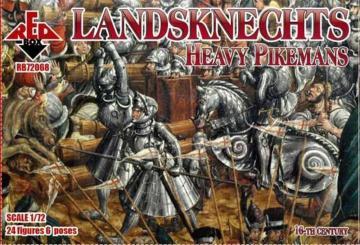 Landknechts (Heavy pikemen), 16th century · RDB 72068 ·  Red Box · 1:72