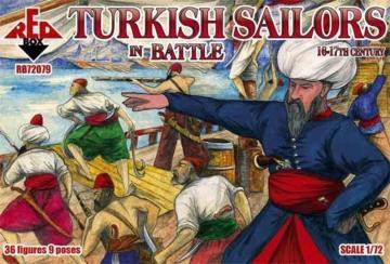 Turkish sailor in battle, 16-17th centur · RDB 72079 ·  Red Box · 1:72