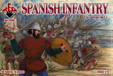 Spanish infantry, 16th century, set 1 · RDB 72096 ·  Red Box · 1:72