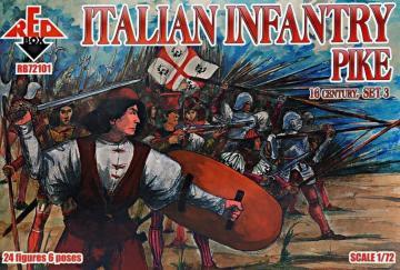 Italian infantry(Pike),16th century - Set3 · RDB 72101 ·  Red Box · 1:72