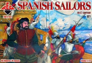 Spanish Sailors, 16-17th century · RDB 72102 ·  Red Box · 1:72