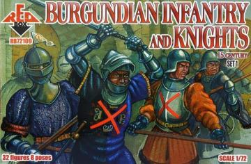 Burgundian infantry a.knights,15th century - Set 1 · RDB 72109 ·  Red Box · 1:72