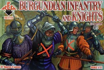 Burgundian infantry a.knights,15th century - Set 2 · RDB 72110 ·  Red Box · 1:72