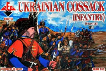 Ukrainian Cossack (infantry) 16 century - Set 1 · RDB 72114 ·  Red Box · 1:72