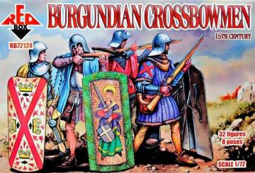 Burgundian crossbowmen, 15th century · RDB 72124 ·  Red Box · 1:72