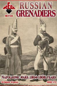 Russian Grenadiers, 1804-1808 · RDB 72130 ·  Red Box · 1:72