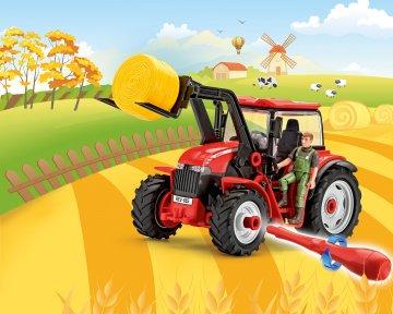 Traktor mit Lader und Figur · RE 00815 ·  Revell · 1:20