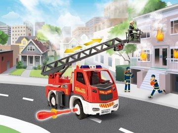 Feuerwehr Leiterwagen mit Figur · RE 00823 ·  Revell · 1:20