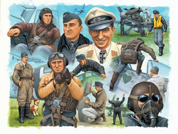 Pilots & Ground Crew, German Airforce WWII · RE 02400 ·  Revell · 1:72