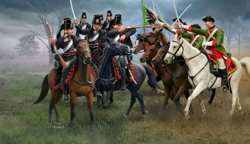 Seven Years War (Austrian Dragoons + Prussian Hussars) · RE 02453 ·  Revell · 1:72