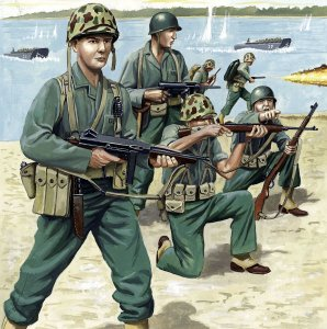 US Marineinfanterie WWII · RE 02506 ·  Revell · 1:72