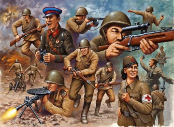 Sowjetische Infanterie, WWII · RE 02510 ·  Revell · 1:72