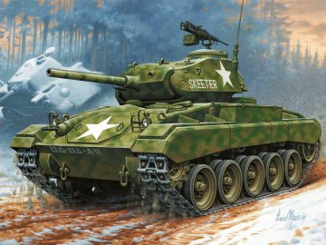 M24 Chaffee · RE 03213 ·  Revell · 1:76